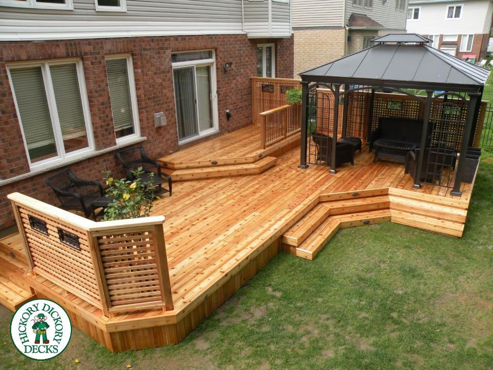 Deck gallery for Wood privacy screens for decks