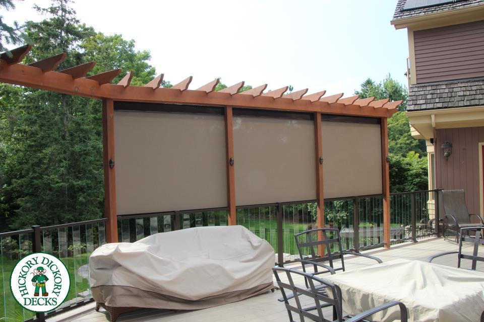 Deck gallery for Metal privacy screens for decks