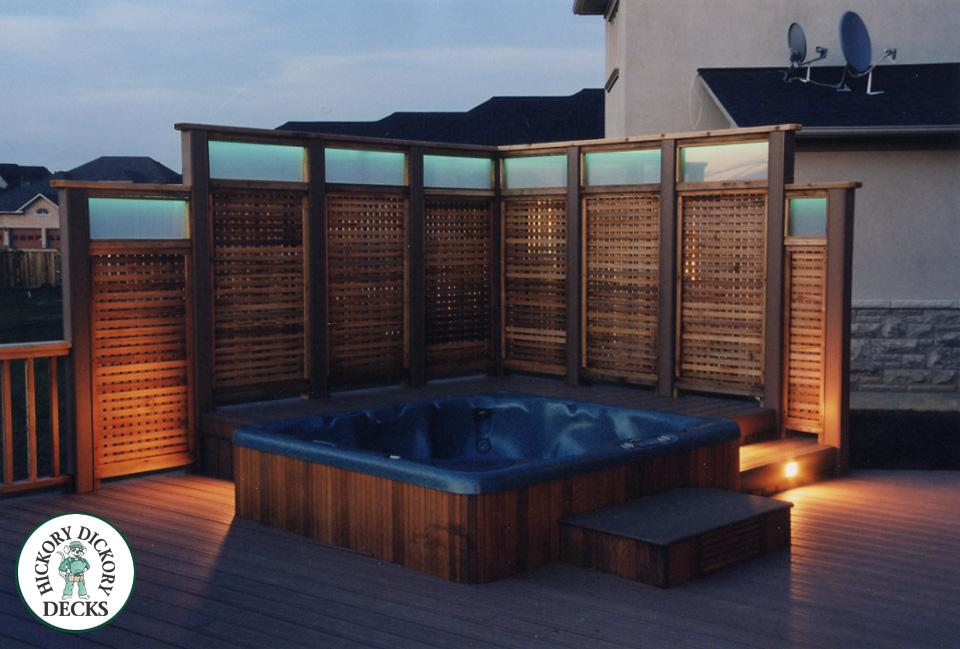 Easy Pool Deck W Privacy Screen: Deck Gallery