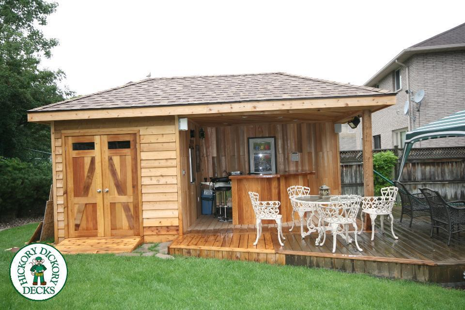 Deck gallery for Garden shed on decking