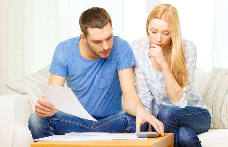 couple reviewing their finances