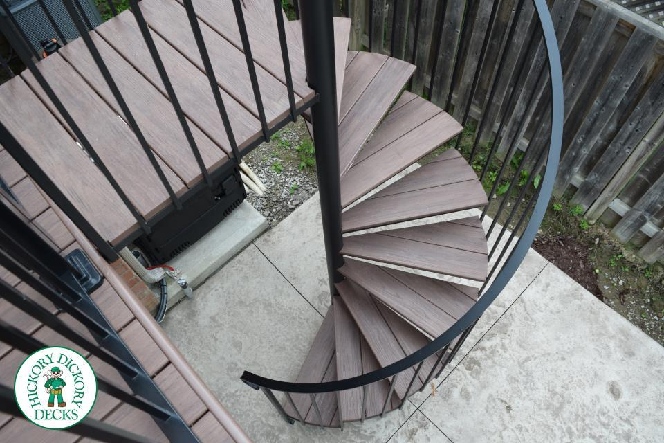 veka decking on spiral stairs