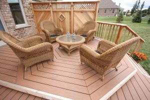 polygon shaped composite deck