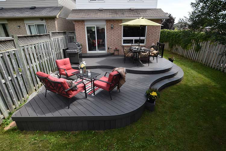 2-tier curved deck