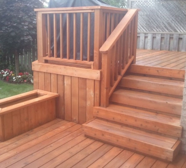 After cleaning a deck image